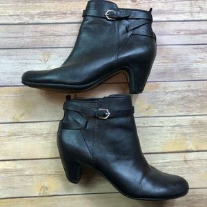 Sam Edelman Maddox Saddle Black Leather Booties